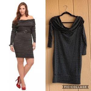 Torrid Cold shoulder/off shoulder body con dress